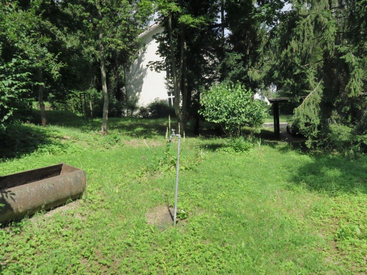 Familienfreundliche Wohnung am südlichen Stadtrand mit parkähnlichem Grundstück-Garten